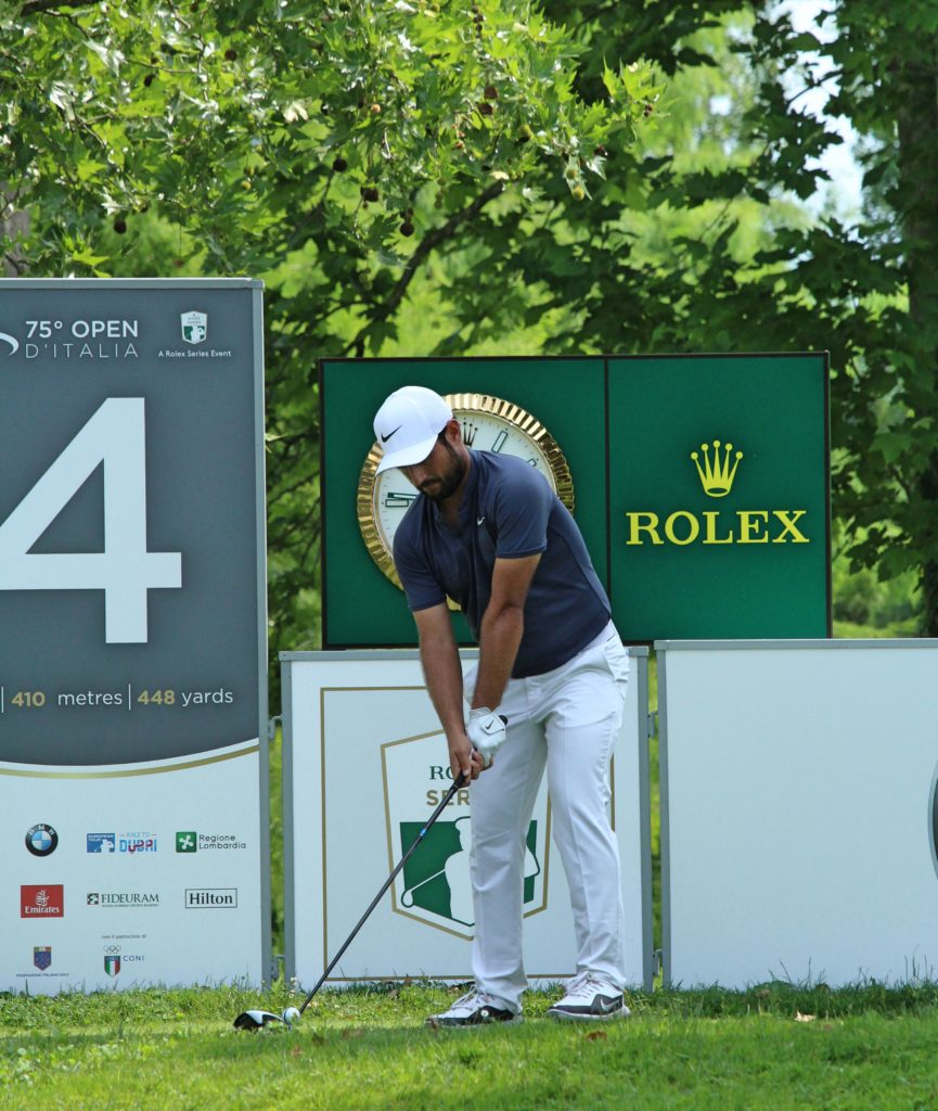Bryson Dechambeau at the top of the leaderboard at Porsche European Open