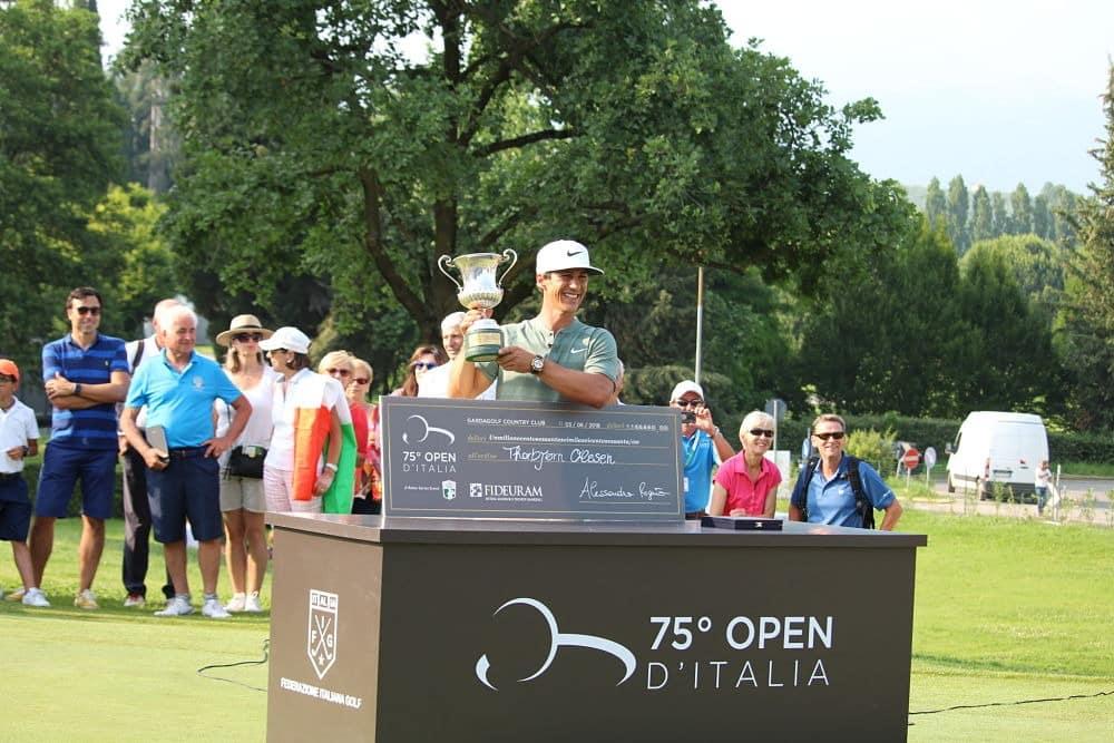 Olesen with the Italian Open trophy