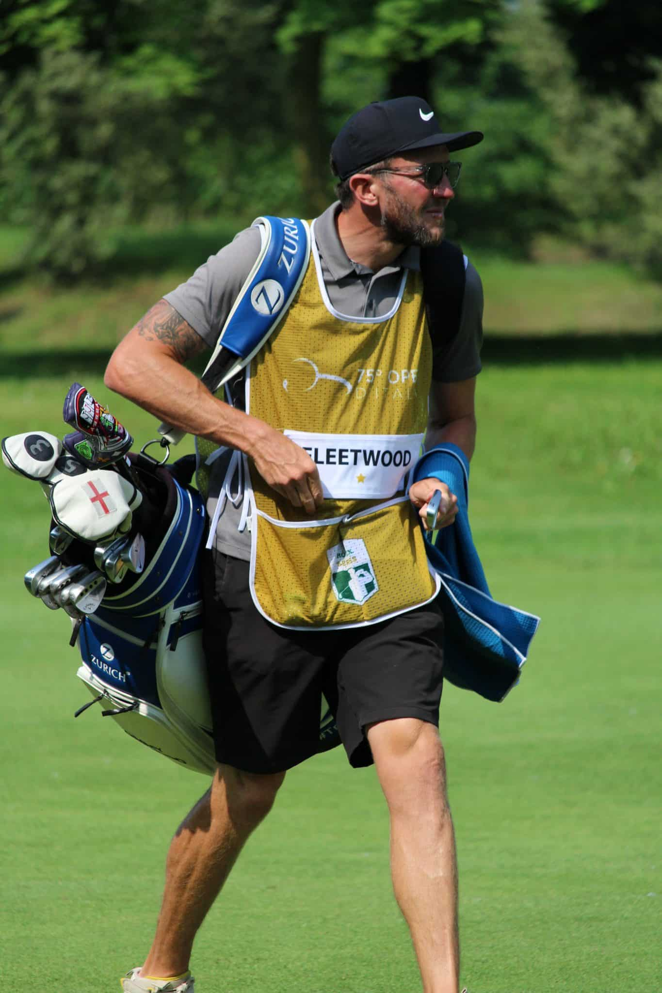 Tommy Fleetwood's caddie
