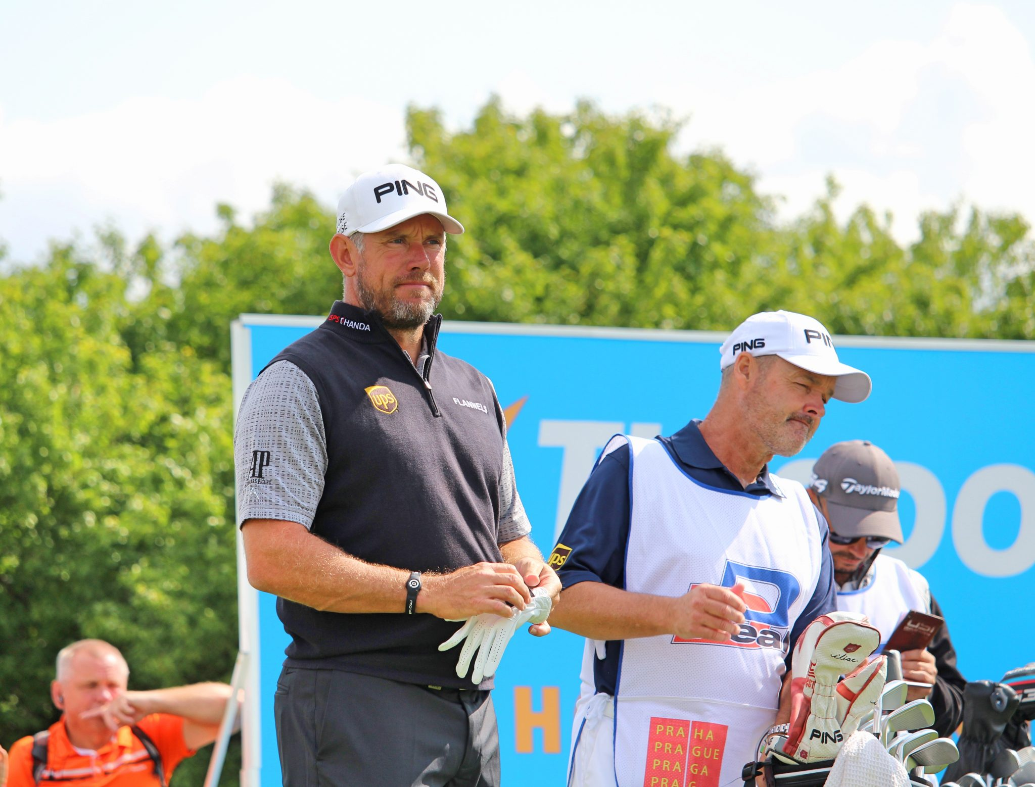 Lee Westwood on the 13th hole