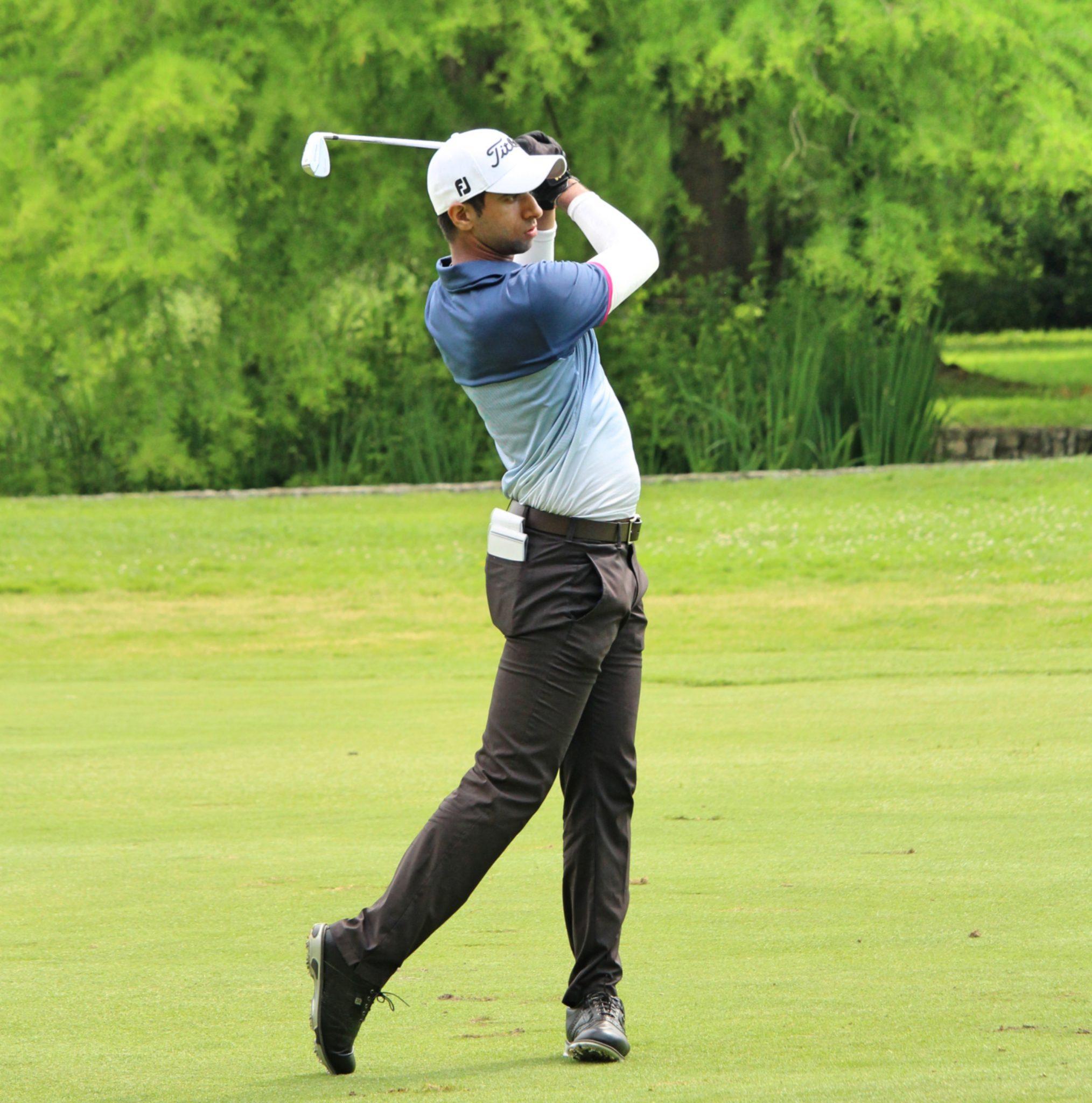 Aaron Rai during the Italian Open