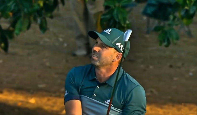 Sergio Garcia at the Masters