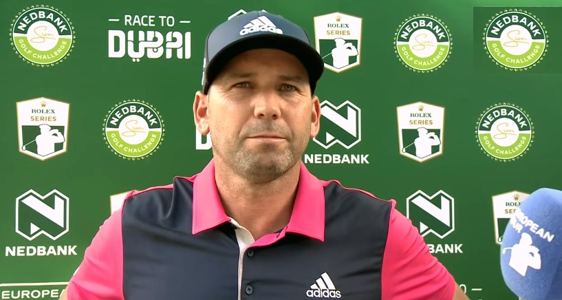 Sergio Garcia at Nedbank golf challenge