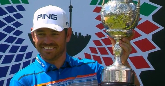 Louis Oosthuizen with the trophy