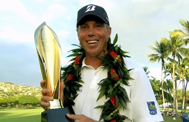 Matt Kuchar with the trophy