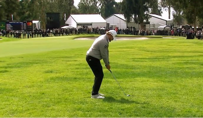 J. B. Holmes from the rough during the final round of Genesis Open