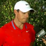 Rory McIlroy talks to the media after the opening round of WGC-Mexico Championship