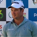 Ryan Fox talks to the media during ISPS Handa World Super 6 Perth