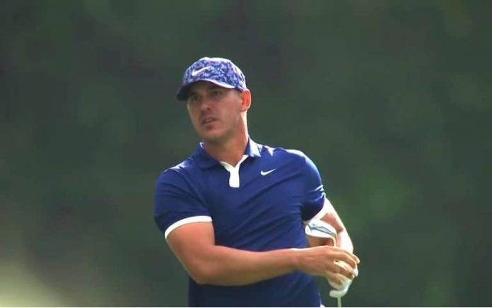 Brooks Koepka during the first round of the 2019 Masters
