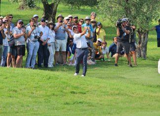 Francesco Molinari during the Italian Open 2018
