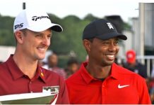 Tiger Woods and Justin Rose