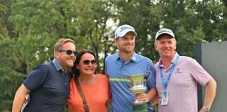Bernd Wiesberger with his family